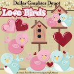 Love Birds 1 - Clip Art