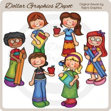 Back To School Kids 3 - Clip Art