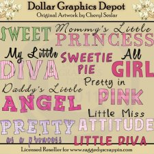 Girly Girl - Word Art