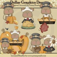 Thanksgiving Mice - Clip Art