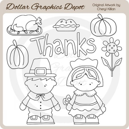 We Give Thanks - Digital Stamps