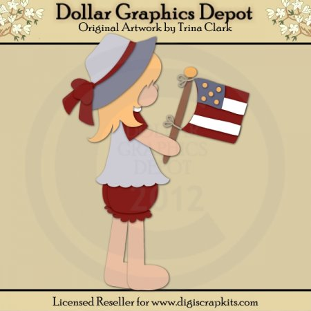 Little Miss Patriot 1 - Cutting Files / Paper Piecing Patterns