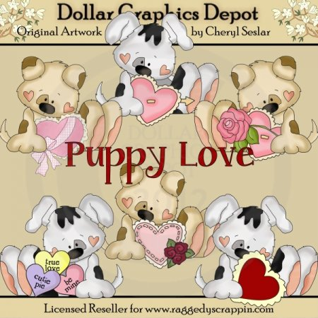 My Friend Fido - Puppy Love - Clip Art