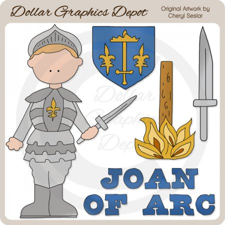 Joan Of Arc - Clip Art