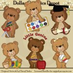 Timeless Teddies - School - Clip Art