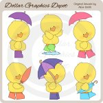 Bright Puddle Ducks - Clip Art - *DGD Exclusive*