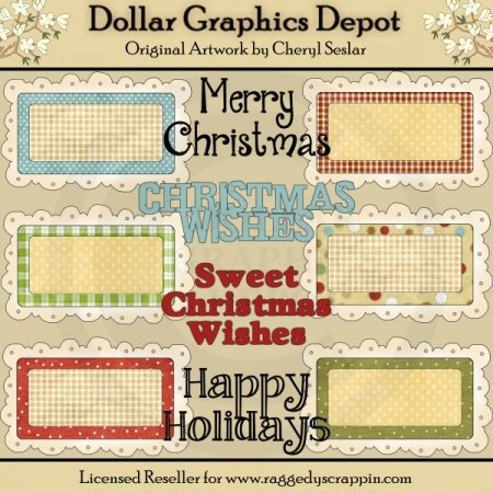 Christmas Text Frames
