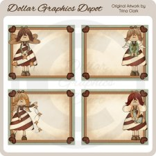 Candy Cane Angels Labels