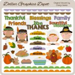 Bountiful Blessings - Clip Art