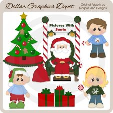 Pictures with Santa - Clip Art