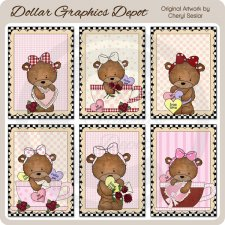 Bailey Bear True Love Cards - Printables