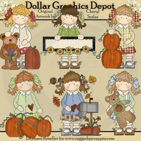 Holly's Fall Blessings - Clip Art