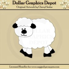 Farm 3 - Sheep - Cutting Files / Paper Piecing Patterns