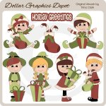 Elf Kids 1 - Clip Art