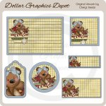 Raggedy Bears - Christmas Tags and Labels