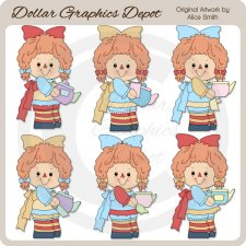 Tea Time with Annie - Clip Art - *DGD Exclusive*