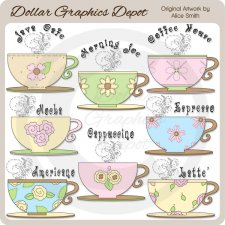 Morning Coffee - Clip Art - *DGD Exclusive*