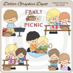 Family Picnic - Clip Art - *DGD Exclusive*
