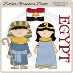 Egyptian Kids - Clip Art