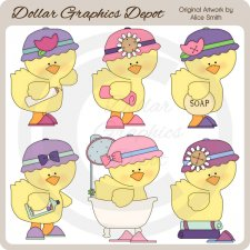 Rub-A-Dub Ducky - Clip Art *DGD Exclusive*