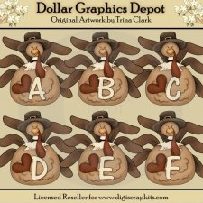 Turkey Alphabet - Clip Art