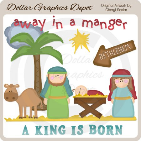 A King Is Born - Clip Art