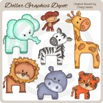Baby Zoo Animals 1 - Clip Art