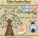 Love Birds - Clip Art
