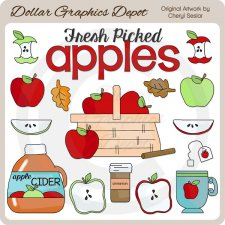Autumn Apples - Clip Art
