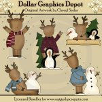 Cute Little Reindeer - Clip Art