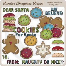 Cookies For Santa 2 - Clip Art