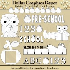 ABC Preschool - Digital Stamps - *DGD Exclusive*