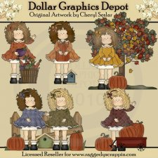 Fall Blessings Penelope - Clip Art - *DGD Exclusive*