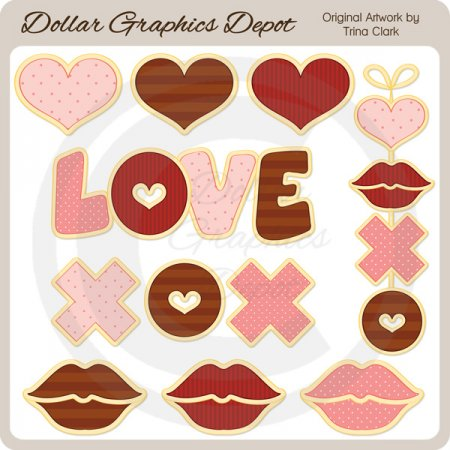 Sweetheart Cookies - Clip Art