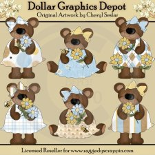 Daisy Bears - Clip Art - *DGD Exclusive*