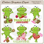 Toadally Awesome Valentine - Clip Art