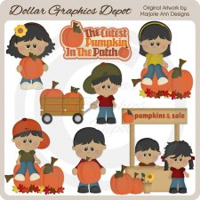 Cutest Pumpkin In The Patch 2 - Clip Art