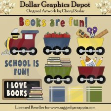 Books Are Fun - Clip Art - *DGD Exclusive*