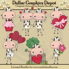 Cow Love - Clip Art