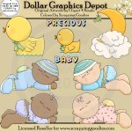 Sleeping Babies - Clip Art