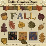Autumn Leaves Designer's Set - Clip Art