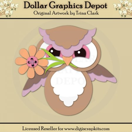 Spring Owl 1 - Cutting Files / Paper Piecing Patterns
