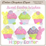Easter Cupcakes - Clip Art