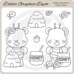 Honey Bear - Digital Stamps