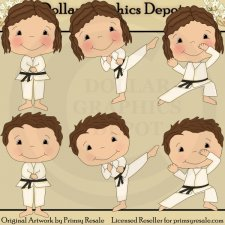 Karate Kids 2 - Clip Art