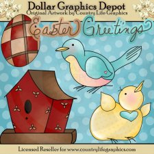 Easter Greetings - Clip Art