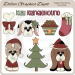 Christmas Dogs - Clip Art