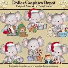 Elephant and Friends - Merry Christmas