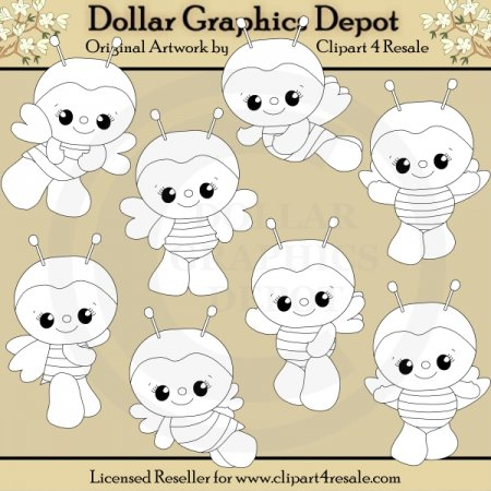 Baby Bumbles - Digital Stamps - *DGD Exclusive*