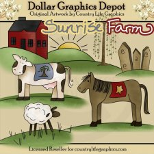 Sunrise Farm - Clip Art